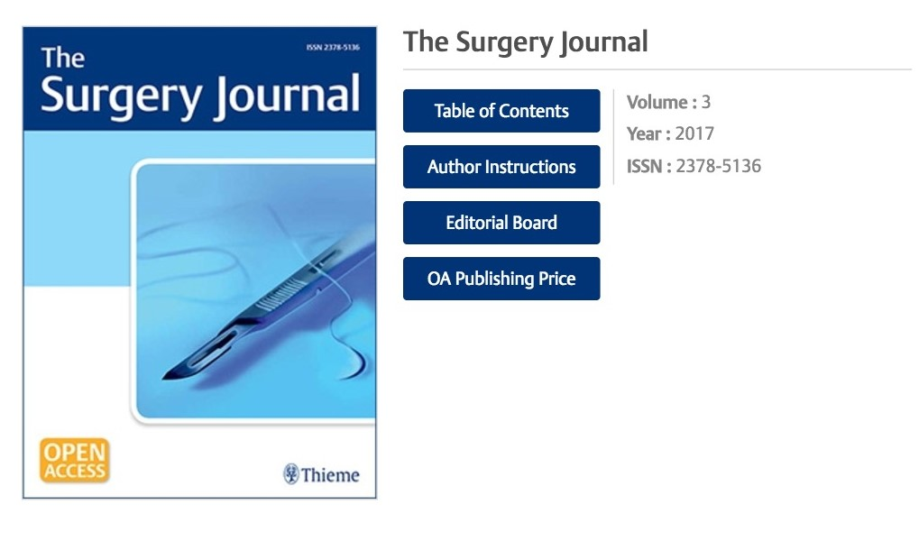 國際醫學期刊「外科學期刊」來函邀請擔任論文審稿人