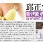 邱正宏醫師自體脂肪隆乳技術  躍登國際重要文獻