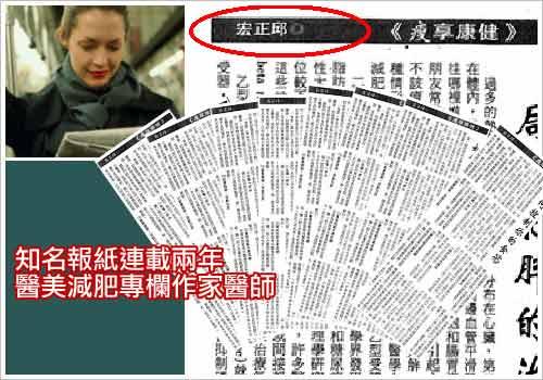 知名報紙減肥醫美專欄作家