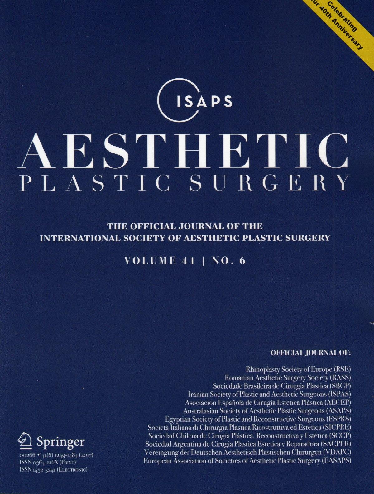 國際「美容整型外科」醫學期刊來函邀請擔任論文審稿人