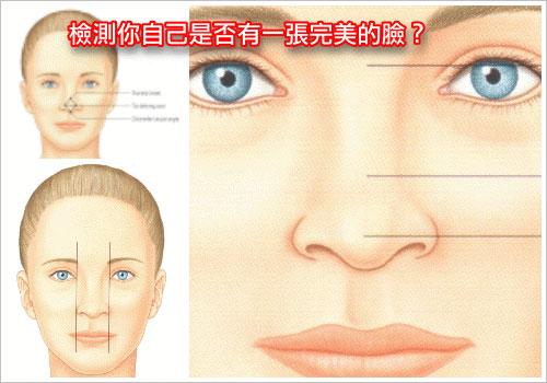 雙眼皮,臉部的美麗眼睛佔有重要的地位