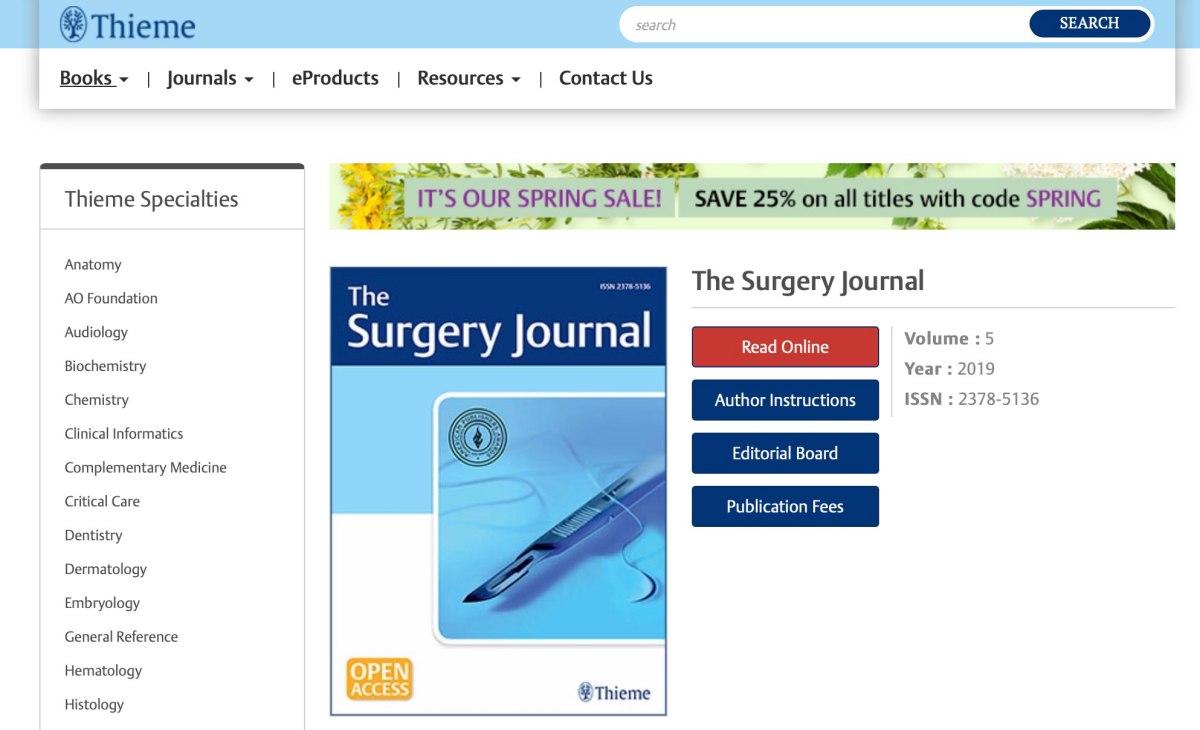 外科醫學期刊 The Surgery Journal