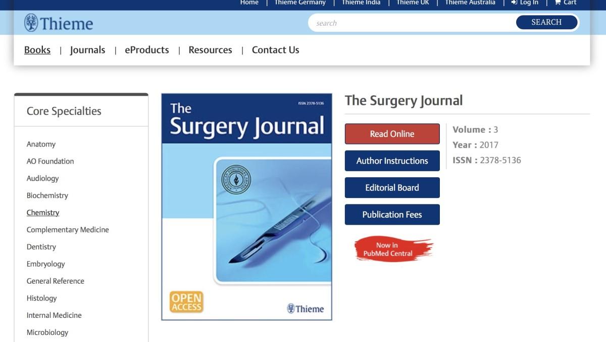 美國「外科醫學期刊」邀請邱醫師擔任論文審稿人